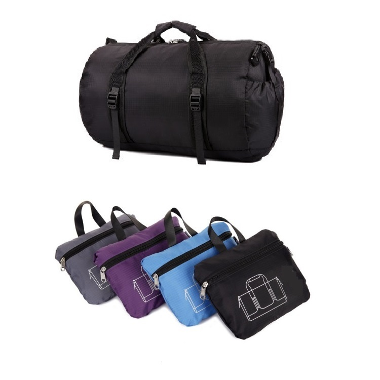 Large Capacity Gym Sports Duffle Foldable Tote Bag With Shoulder