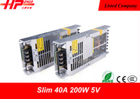 2015 newest product Guangzhou factory 200W 5V Constant Voltage Slim LED Switching Power Supply With CE RoHS FCC