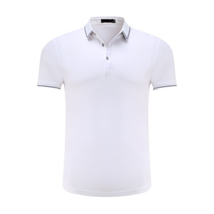 Cheapest 100% cotton white embroidered promotional polo blank strip tee shirts for advertising