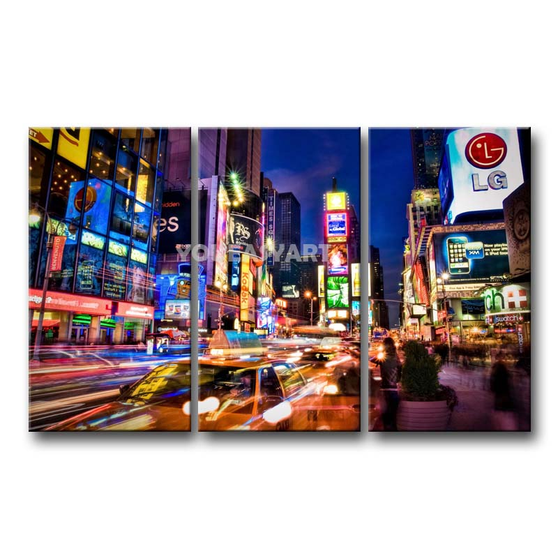 New York Taxi Street City Canvas Wall Art Picture Print Va: Nyc Canvas Art Gallery