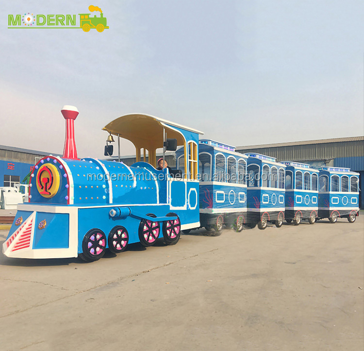 24 persons outdoor playground equipment kids electric sightseeing train