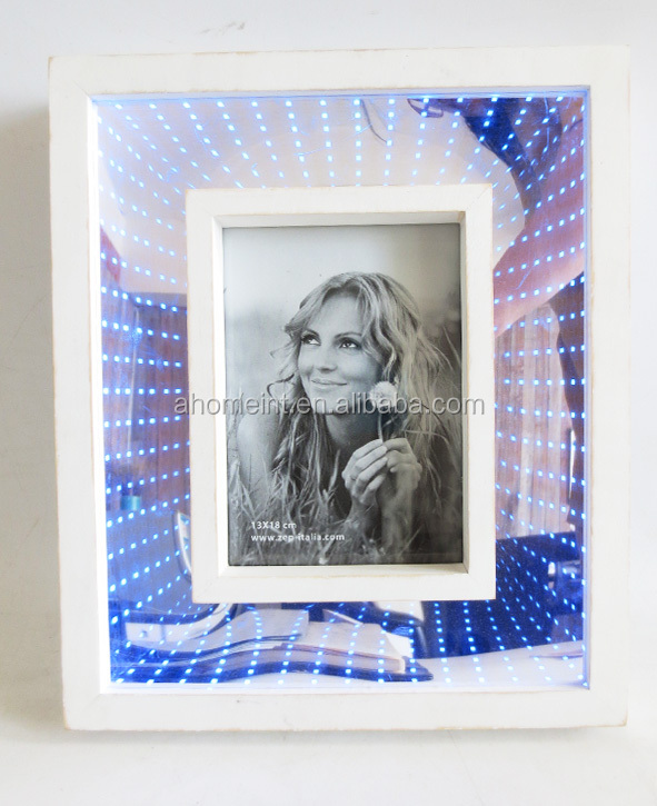 Wholesale New Design 3D Wooden Photo Frame with Led Light Shadow Box Frame