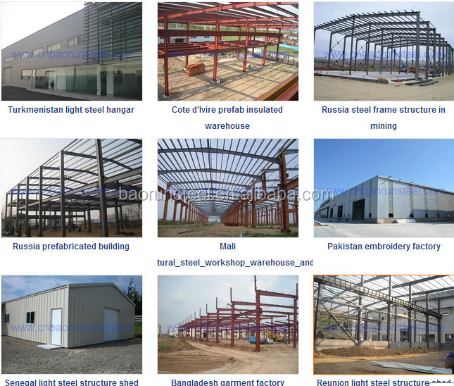 Light type steel structure building for workshop &warehouse style house plans