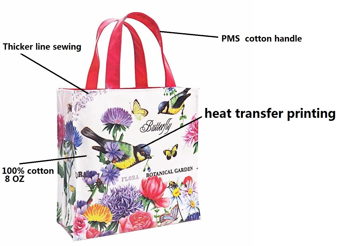 Oem โลโก้ที่กำหนดเองพิมพ์ผ้าฝ้ายมินิผ้า/ผ้า/ผ้า/ผ้า/ผ้า/ผ้า/ผ้า/ผ้า/ผ้า/ผ้า/ถุงช้อปปิ้ง gusset กระเป๋าด้านนอก