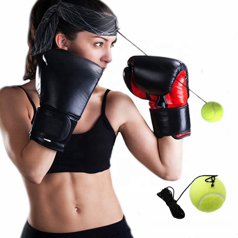 Benutzerdefiniertes Logo Stirnband Reflex Reaktionskugel Magic Boxing Speed ​​Ball