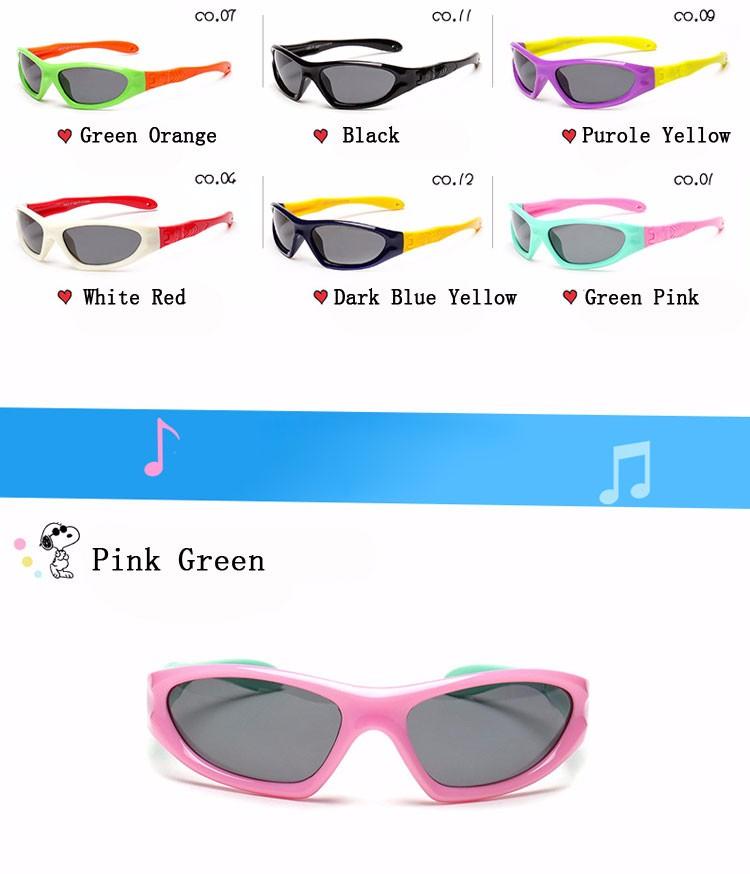 dee030e11830c HDCRAFTER Boys Polarized Sunglasses Kids Girl Flexible Frame Sun Glasses  Safety Outdoor Goggles Anti UVA Child