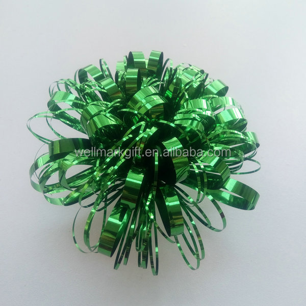 Gift packaging direct supplier metallic fireworks bow
