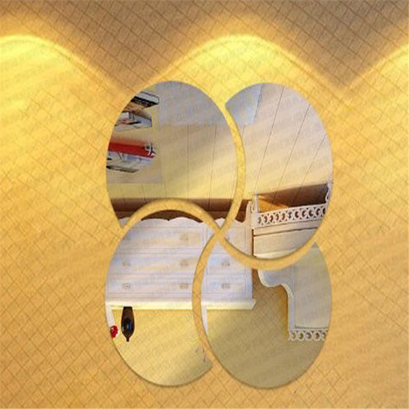 High Quality 3D Circles Mirror Puzzle Home Decor Bell Cool Mirrors Wall Stickers Free Shipping 12.9