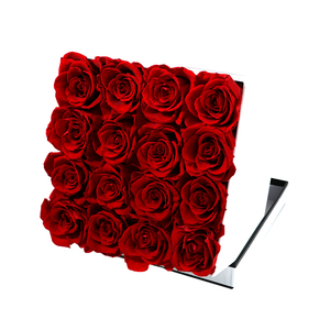 Gift paper preserved rose hat packaging luxury flower box for Valentine's Day
