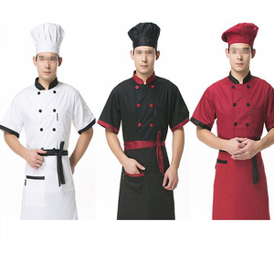 China work clothing factory men women custom staff employees uniform hotel cafeteria bakery uniform