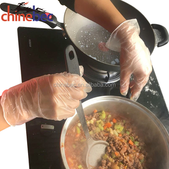 disposable Food Grade industrial use clear white vinyl gloves