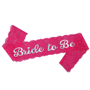 2019 New products hot quality bachelorette partysash bride to besash sexy lace sash