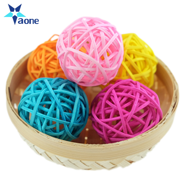 Promotioanl Gifts Wedding Decoration 20pcs/lot 3cm Birthday Party Christmas Decor Home Ornament Colorful Round Rattan Ball