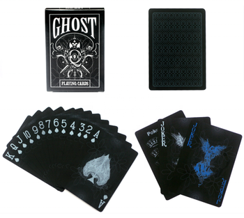 Promotional Playing cards or plastic waterproof black diamond poker