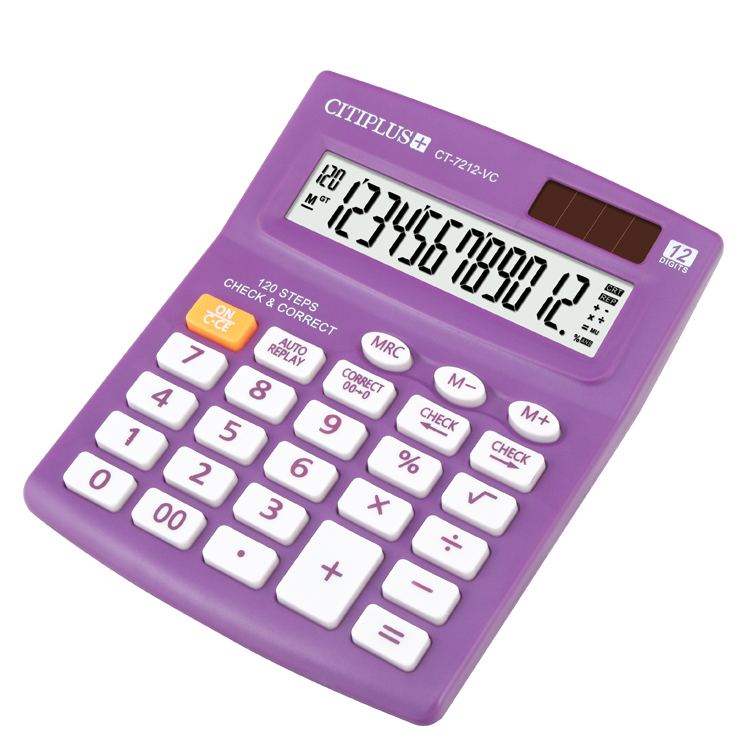 CT-7212VC office gift suit size cheap solar powered calculator, View cheap  solar powered calculator, CITIPLUS Product Details from Guangdong OSALO