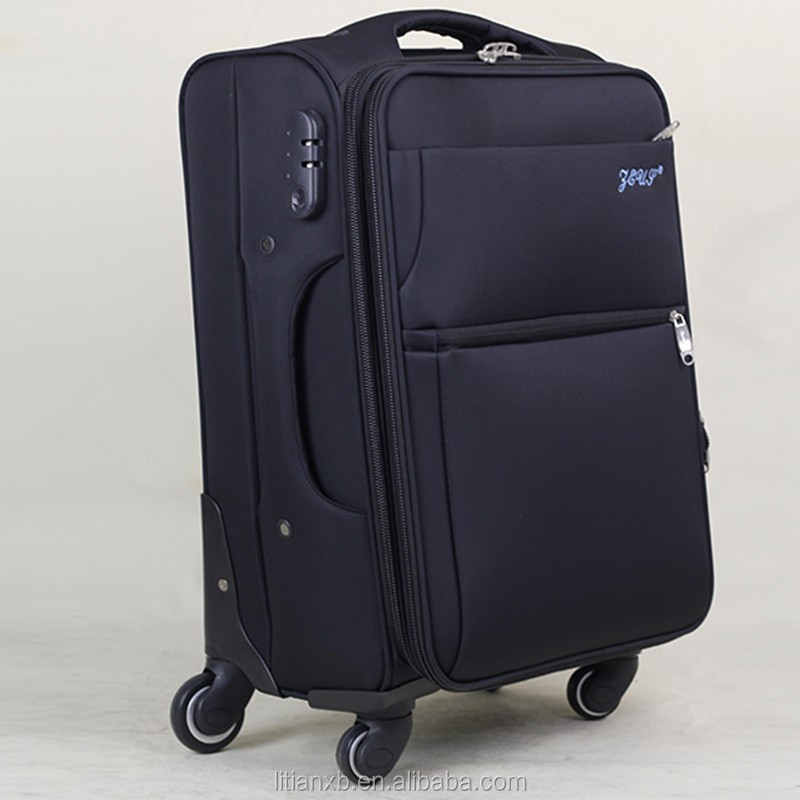 nylon black spinner hard travel trolley luggage bags cases for Men and women