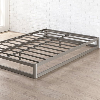 "Queen Bed Frame, 9"" Metal Platform Bed Frame w/Heavy Duty Steel Slat Mattress Foundation (No Box Spring Needed), Queen Size"