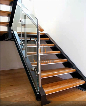 Timber Staircase Fibergl Open Riser Stairs