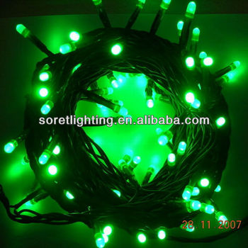 Christmas Tree Decorative Pvc Cable Green Led Twinkle Fairy Lights ...