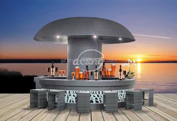 Rattan bar pe tavolo e sgabelli bar esterno in rattan set mobili da