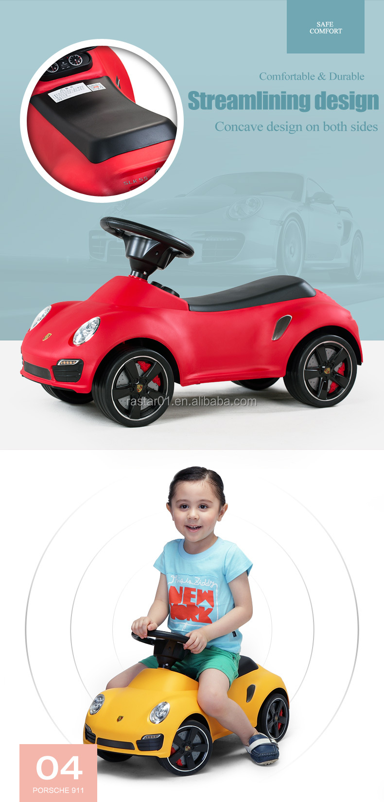 Rastar Porsche Toys Swing Car For Kids