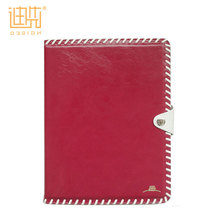 Easy carrying embossing PU leather tablet cover with metal button shockproof case for ipad