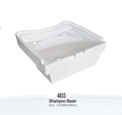 Quality Wholesaler Washing Hair Solid Surface Shampoo Ceramic Bathroom Sink