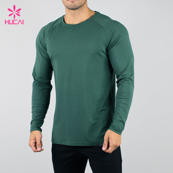 High Quality gym compression shirt Long Sleeve Muscle Men t shirt
