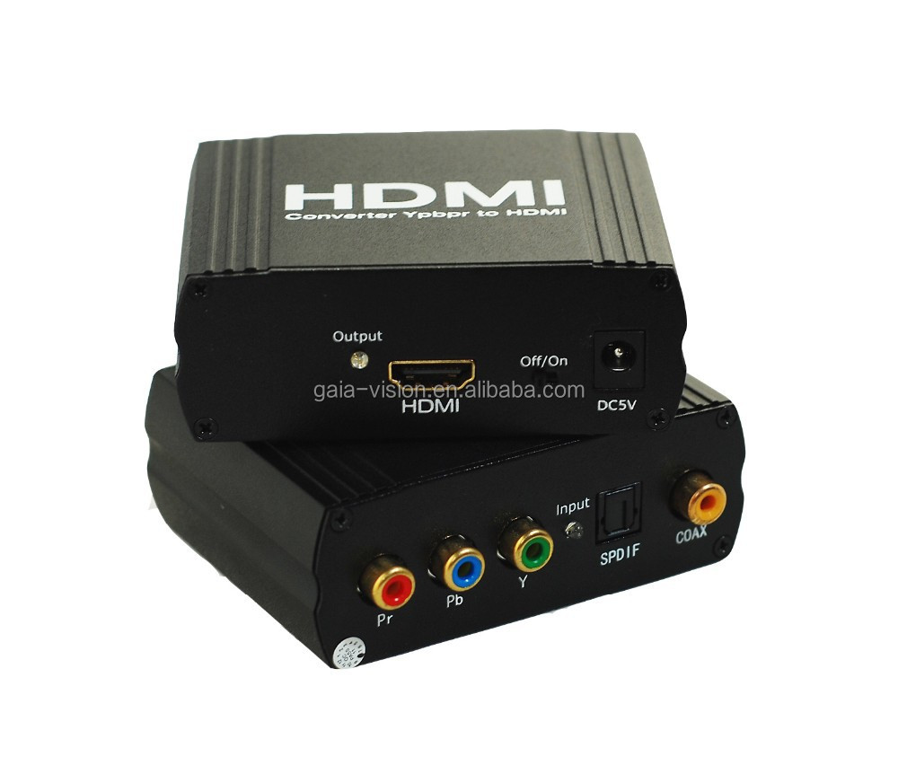 YPbPr+SPDIF TO HDMI Converter(One YUV+ YPbPr and SPDIF (Optical Coax) input signal convert to one HDMI )