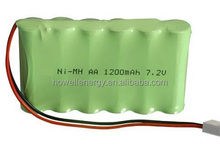 OEM small nimh battery with plastic case s AA 1200mAh 7.2V 6 cells rechargeable NiMH battery pack
