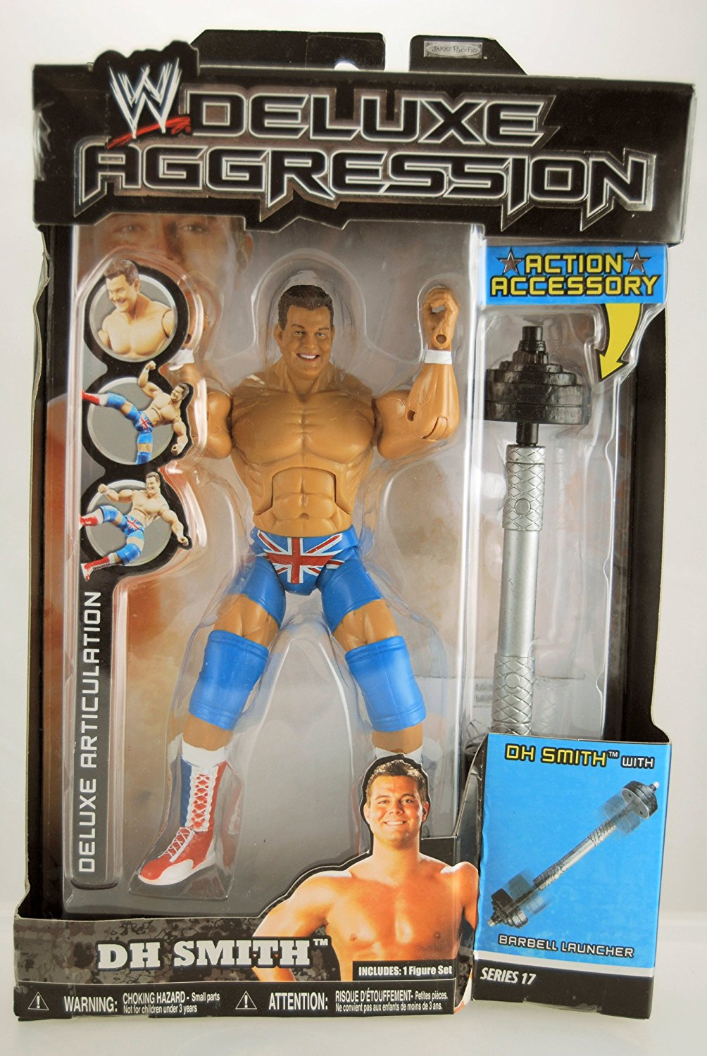 WWE - 2008 - Deluxe Aggression Series 17 - DH Smith Action Figure - w/ Barbell Launcher - Limited Edition - Collectible