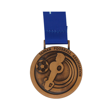 zinc alloy Antique copper plated sports award custom blank football sports medal