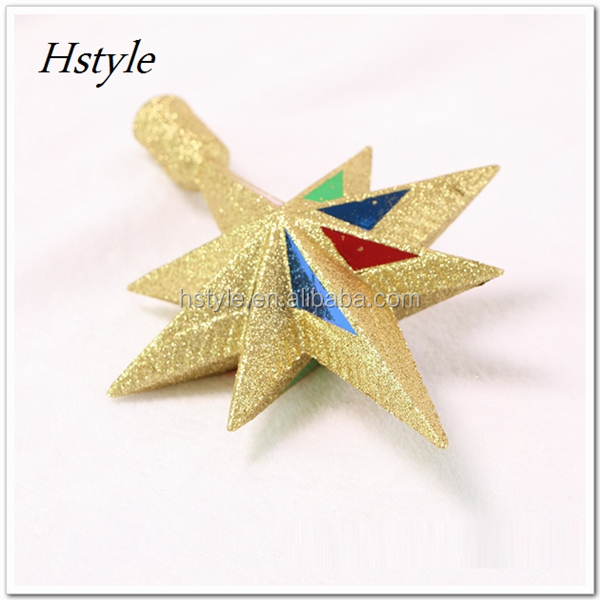 New Best Selling Gold Star Christmas Tree Topper Christmas Xmas Decoration Pendant Ornament 20cmx20cm SSD164