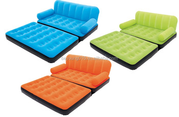 5 In 1 Inflatable Bestway Velvet Sofa Air Bed Couch Sofa Cum Bed