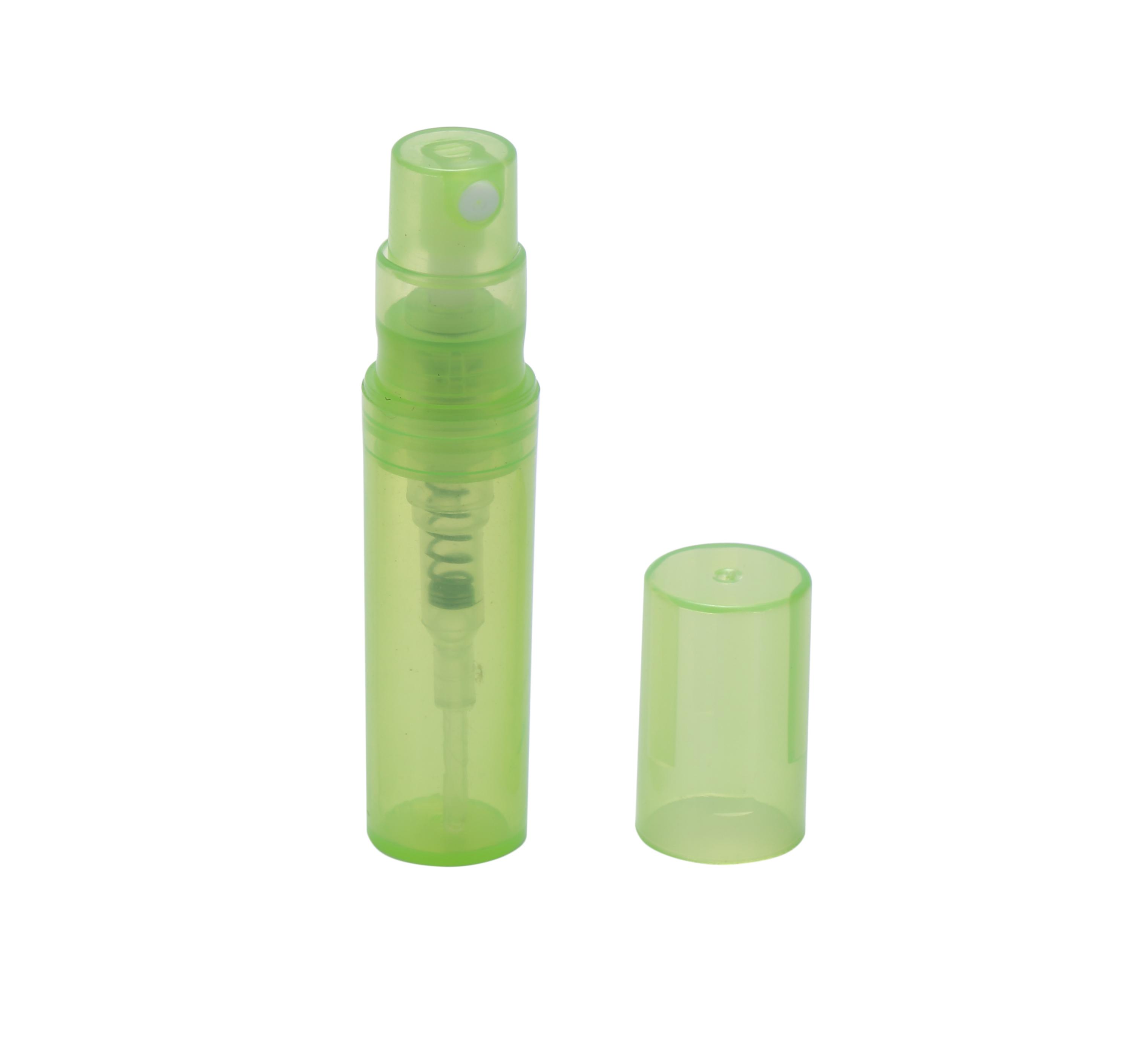 Heißer Verkauf 2ml Kunststoff Parfüm Flasche, billige Parfüm Plastikflasche, Körperpflege Flasche Parfüm Sprühflasche