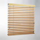 50mm slat Manual Aluminum Shades Venetian Wooden Window Blinds With Dual-Cord