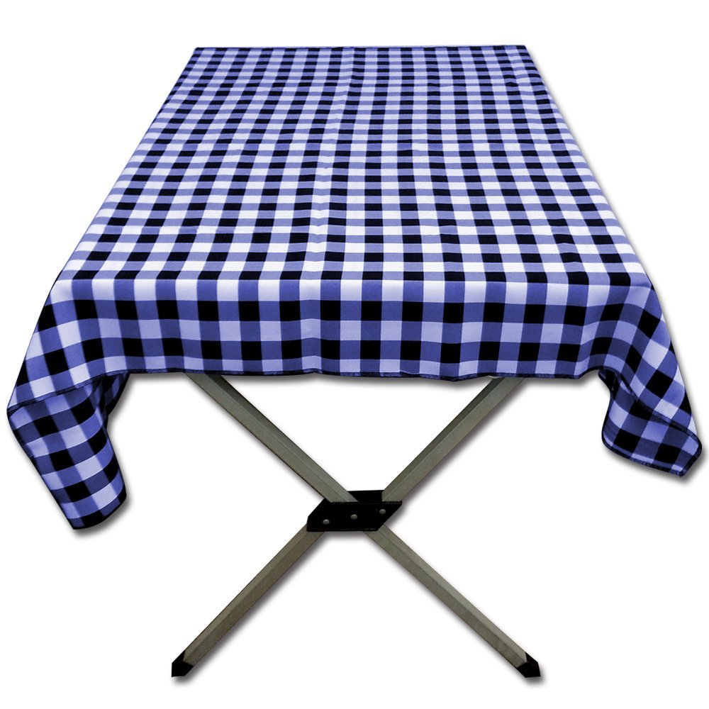 Unique Navy Gingham Tablecloth