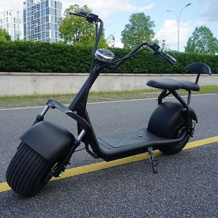 Emak/COC/EEC Powerful battery fat tire 2 wheel electric citycoco, Black
