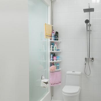 1908 Sq Adjustable Rack 4 Tier Bathroom Corner Shelf - Buy Corner ...