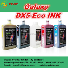 Original Galaxy DX5 eco solvent ink for Galaxy large format flex banner eco solvent printing machine with low price