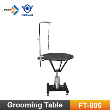 Ft 805 Height Adjule Round Hydraulic Tables For Pet Dog Grooming