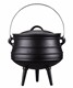 3 legs Camping Metal Big Belly Casting iron Indian Cooking Pots