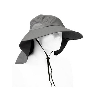 Outdoor Fishing Hiking Hunting harvest sun protection Hat Brim Cap with Ear  Neck full Cover Sun 32b1e2598ed