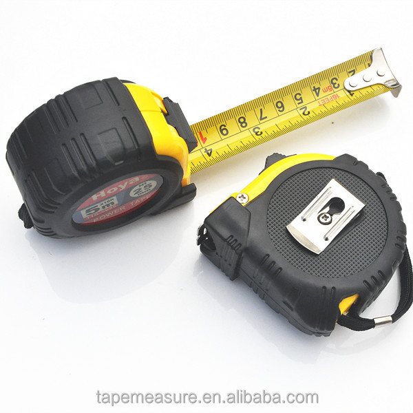 16feet 5m yellow measure belt rubber steel construction handtools with Company Logo or Name