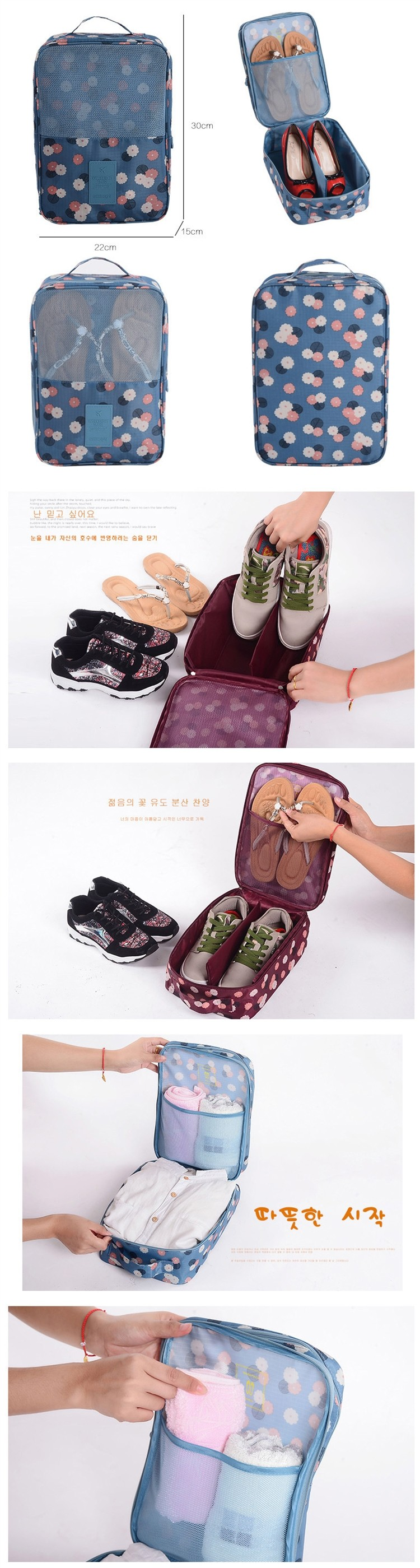promotional gym sports dance zipper shoe bag   ladies shoes and matching  bags e3389d0205340