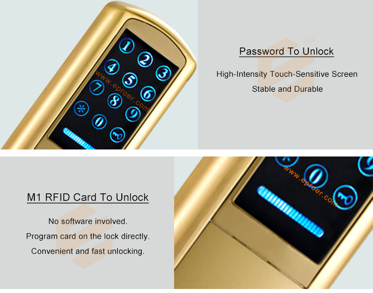 A Digital Rfid Card And Code Pin Pad Front Door Lock With Electronic Digi  Keypad - Buy Rf Card Door Lock,Sensor Card Door Lock,Keypad Door Lock