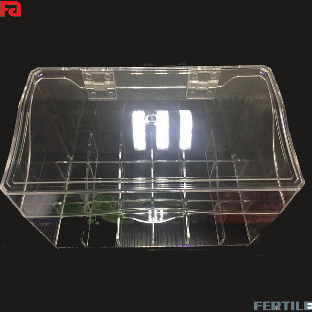 portable household acrylic clear sundries storage organizer