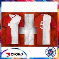 China custom printed football teams shirt, soccer jersey set factory