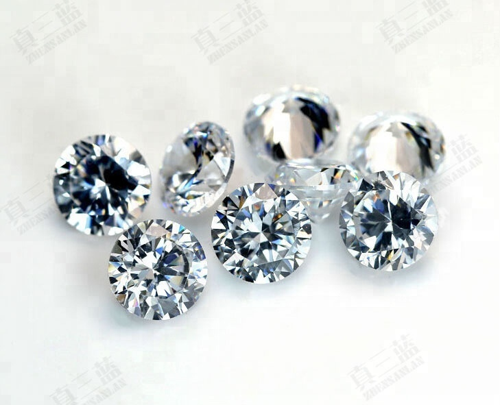 5A High Quality White CZ Diamond Cut Round wholesale factory price Synthetic Cubic Zircon 5.68mm zircon stone