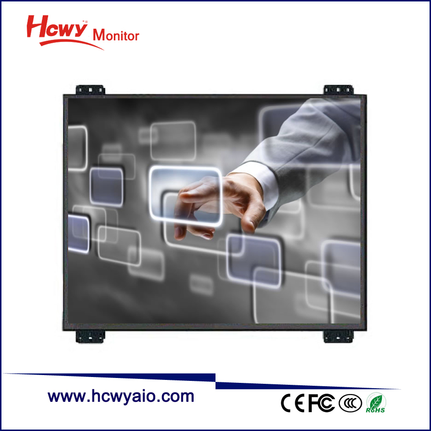 Touch Screen Digitizer 7 inch 8 inch 10 inch Dustproof Shockproof Open Frame Cabinet Rack Display Monitor